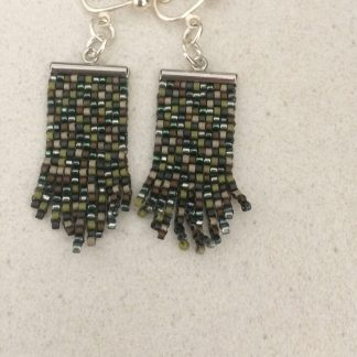 Delica Seed Beads Peyote Stitch Earrings