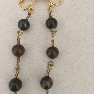 Tiger Iron Earrings