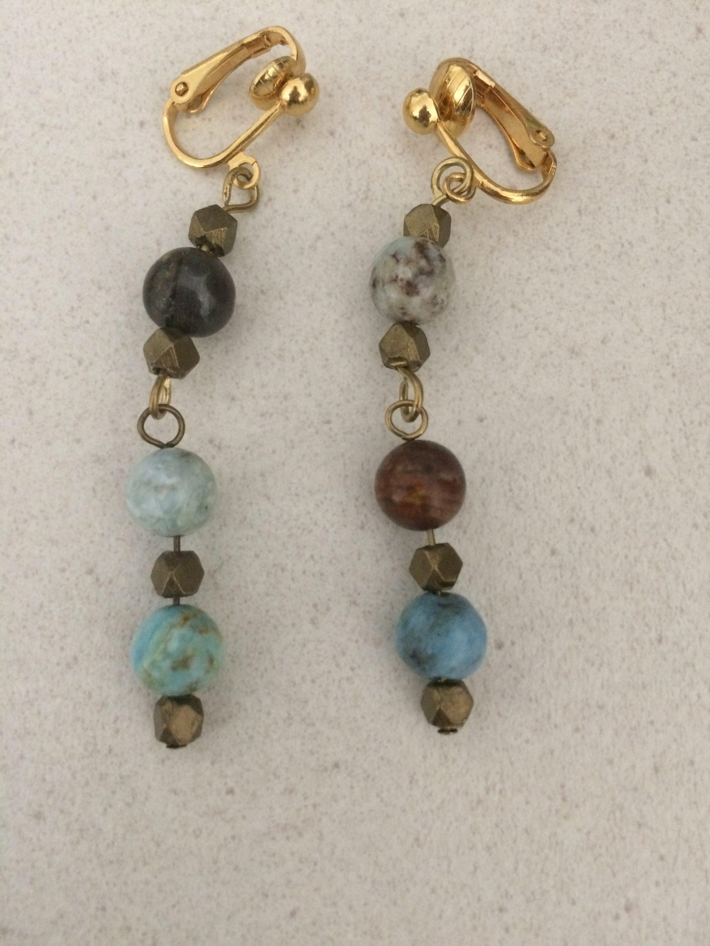 African Opal Earrings