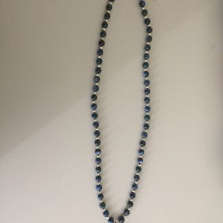Jasper Kyanite/Apatite Sterling Silver Beads Necklace