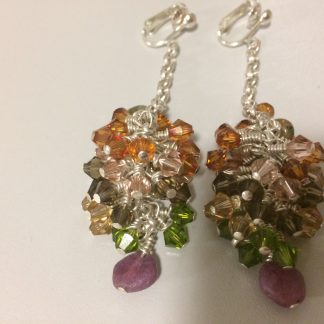 Swarovski Grape Vine Earrings