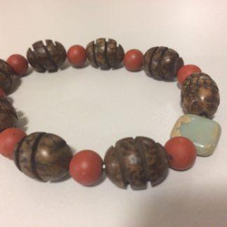 Wood Beads, Matt Jasper, Jasper Bracelet