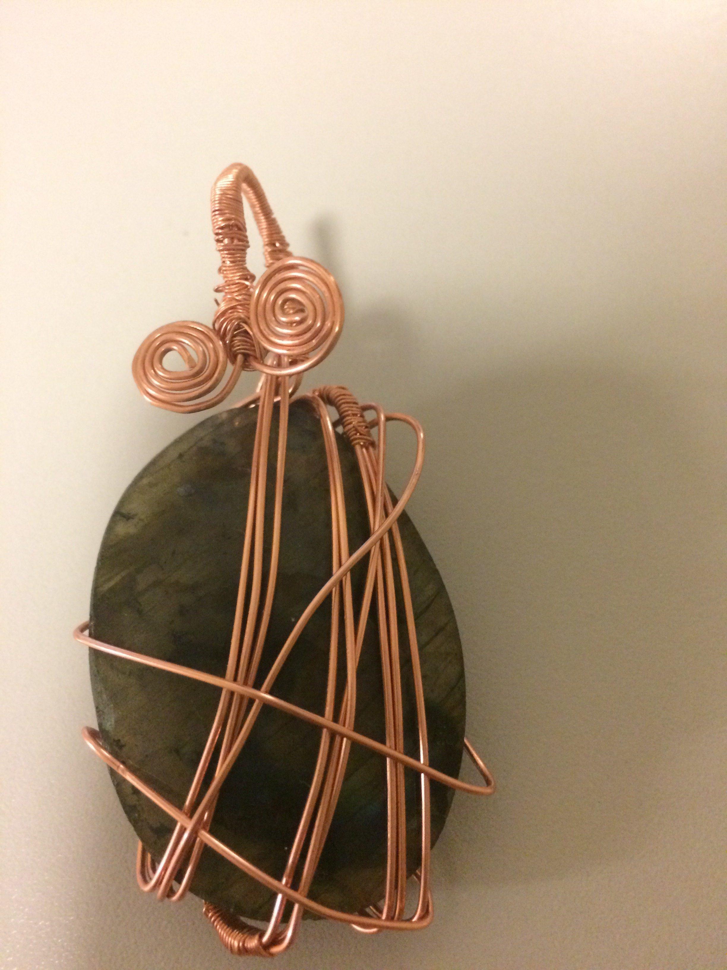 Labradorite Copper Wire Wrap Pendant