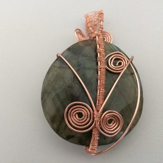 Labradorite Pendant with Copper Wire
