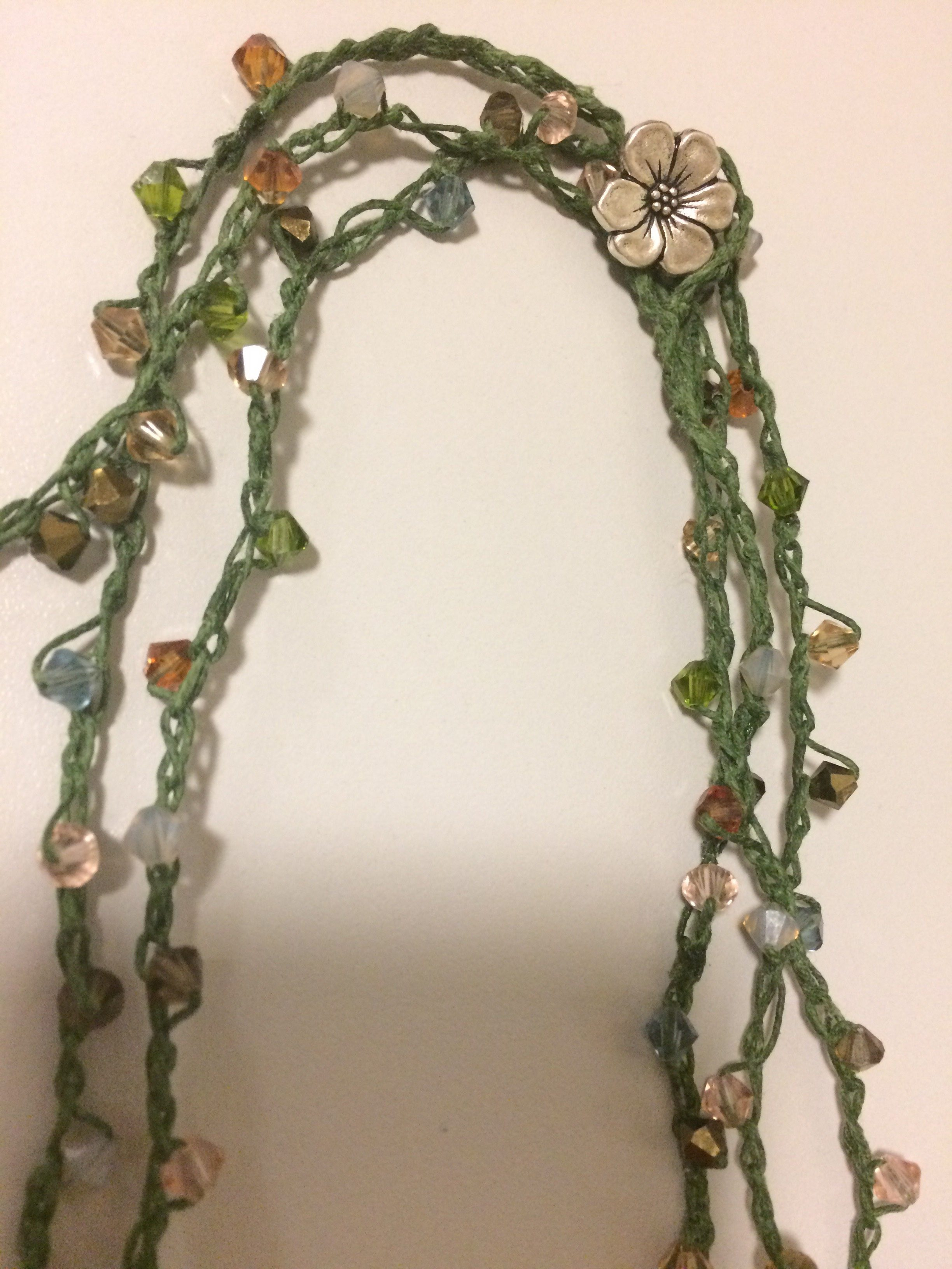 Swarovski Crochet Necklace