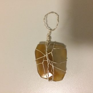 Yellow Chalcedony Pendant - 1 (Big)