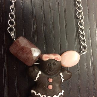 Gingerbread Cookie (Ceramics) Pendant for An-chan