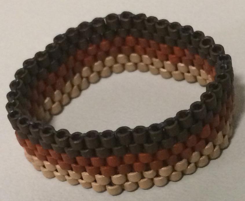 Delica Miyuki Glass Beads Ring with Peyote Stitch - 1
