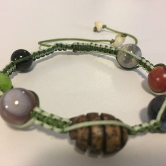 Macrame Bracelet - Labradorite, Carnelian, Sodalite, Wood Bead, Botsuwana Agate, Dyed Jade, Banded Agate, Opal
