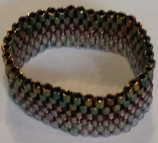Delica Miyuki Glass Beads Ring with Peyote Stitch – 4