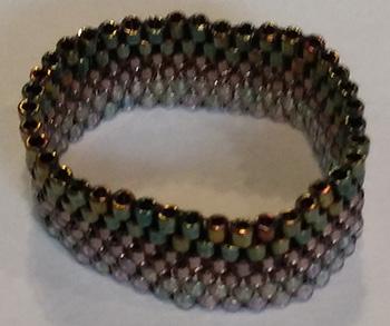 Delica Miyuki Glass Beads Ring with Peyote Stitch – 4