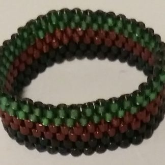 Delica Miyuki Glass Beads Ring with Peyote Stitch - 5